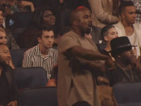 Kanye West had the best time ever dancing in his seat to The Weeknd at the 2015 MTV VMAs