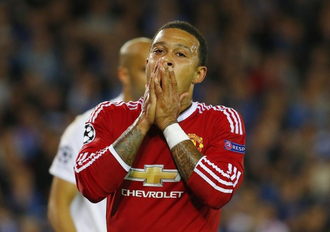 Memphis Depay's had a mixed start at Old Trafford (Picture:Getty)