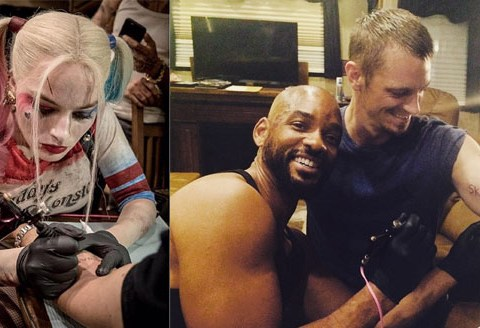 Suicide Squad: Margot Robbie and Will Smith are giving out 'SKWAD' tattoos