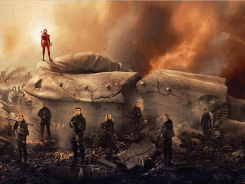 Jennifer Lawrence stands tall in new Hunger Games: Mockingjay – Part 2 banner