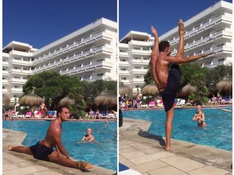 Water aerobics instructor goes hard to Beyonce's Single Ladies