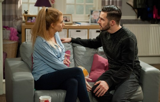FROM ITV STRICT EMBARGO -TV Listings Magazines & websites Tuesday 8 September 2015, Newspapers Saturday12 September 2015 Emmerdale - 7293 Wednesday 16th September 2015 Debbie Barton [CHARLEY WEBB] worries over Sarah's health whilst Ross Barton [MICHAEL PARR], who has stayed over, insists he wants to be with Debbie promising they can take it slowly. Picture contact: david.crook@itv.com on 0161 952 6214 Photographer - Amy Brammall This photograph is (C) ITV Plc and can only be reproduced for editorial purposes directly in connection with the programme or event mentioned above, or ITV plc. Once made available by ITV plc Picture Desk, this photograph can be reproduced once only up until the transmission [TX] date and no reproduction fee will be charged. Any subsequent usage may incur a fee. This photograph must not be manipulated [excluding basic cropping] in a manner which alters the visual appearance of the person photographed deemed detrimental or inappropriate by ITV plc Picture Desk. This photograph must not be syndicated to any other company, publication or website, or permanently archived, without the express written permission of ITV Plc Picture Desk. Full Terms and conditions are available on the website www.itvpictures.com