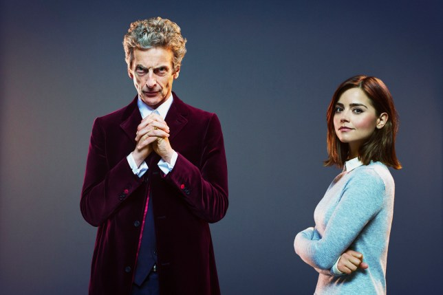 Programme Name: Doctor Who - TX: 19/09/2015 - Episode: n/a (No. 1) - Picture Shows: Doctor Who (PETER CAPALDI), Clara (JENNA COLEMAN) - (C) BBC - Photographer: David Venni