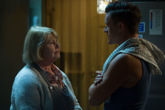 WARNING: Embargoed for publication until 00:00:01 on 29/09/2015 - Programme Name: EastEnders - TX: n/a - Episode: 5150 (No. n/a) - Picture Shows: ***FORTNIGHTLIES PLEASE DO NOT USE (SOAP LIFE and ALL ABOUT SOAP) Jason tells Aunt Babe about his plan. Aunt Babe (ANNETTE BADLAND), Jason (SCOTT NEAL) - (C) BBC - Photographer: Jack Barnes