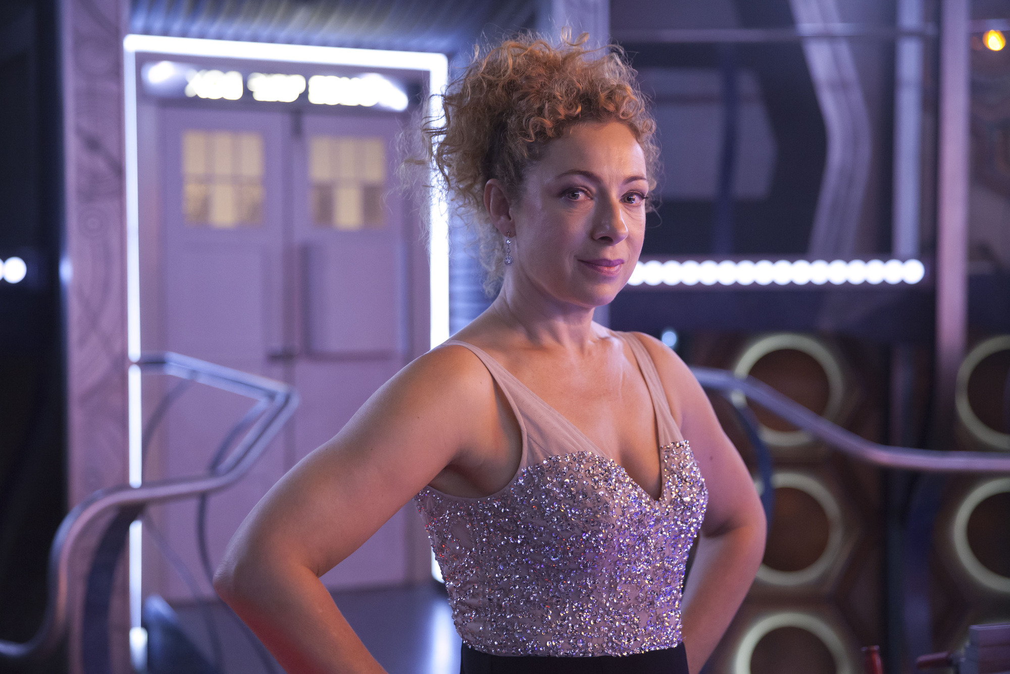 WARNING: Embargoed for publication until 09:30:01 on 02/09/2015 - Programme Name: Doctor Who - TX: 02/09/2015 - Episode: n/a (No. n/a) - Picture Shows: THE DOCTOR AND RIVER SONG REUNITE FOR A SPECTACULAR CHRISTMAS River Song (ALEX KINGSTON) - (C) BBC - Photographer: Jon Hall