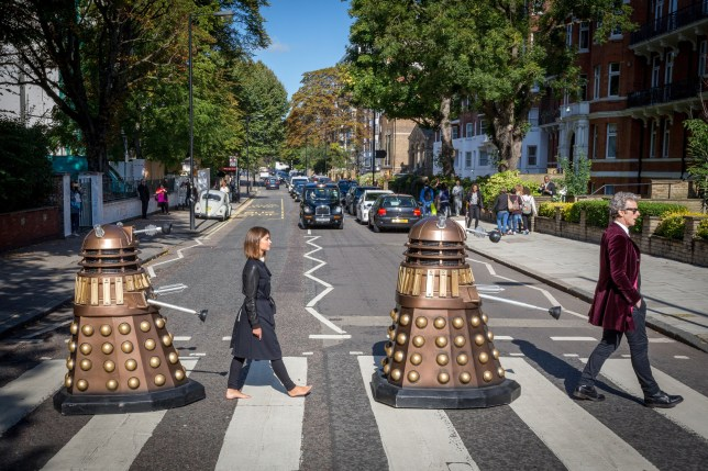 Doctor Who Abbey Road recreation