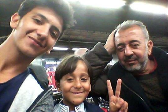 Osama Abdel-Muhsen Alghadab and his son Zaid