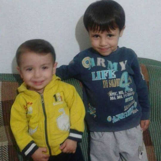 Purported photos of Aylan Kurdi, three (L) and his brother Galip, five while still alive circulation on social media