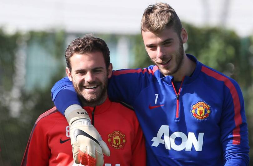 Juan Mata is helping David De Gea feel happy about staying at Manchester United – report