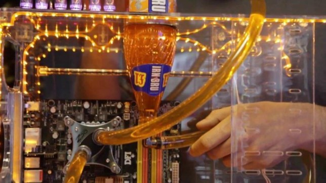 Scottish man builds the most Scottish computer imaginable. It's called the Aye Mac and uses Irn Bru Source: SWNS (grab)