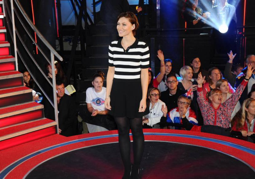 BOREHAMWOOD, ENGLAND - SEPTEMBER 08: Emma Willis presents the episode in which Chris Ellison becomes the 3rd celebrity evicted from the Big Brother house at Elstree Studios on September 8, 2015 in Borehamwood, England. (Photo by Stuart C. Wilson/Getty Images)