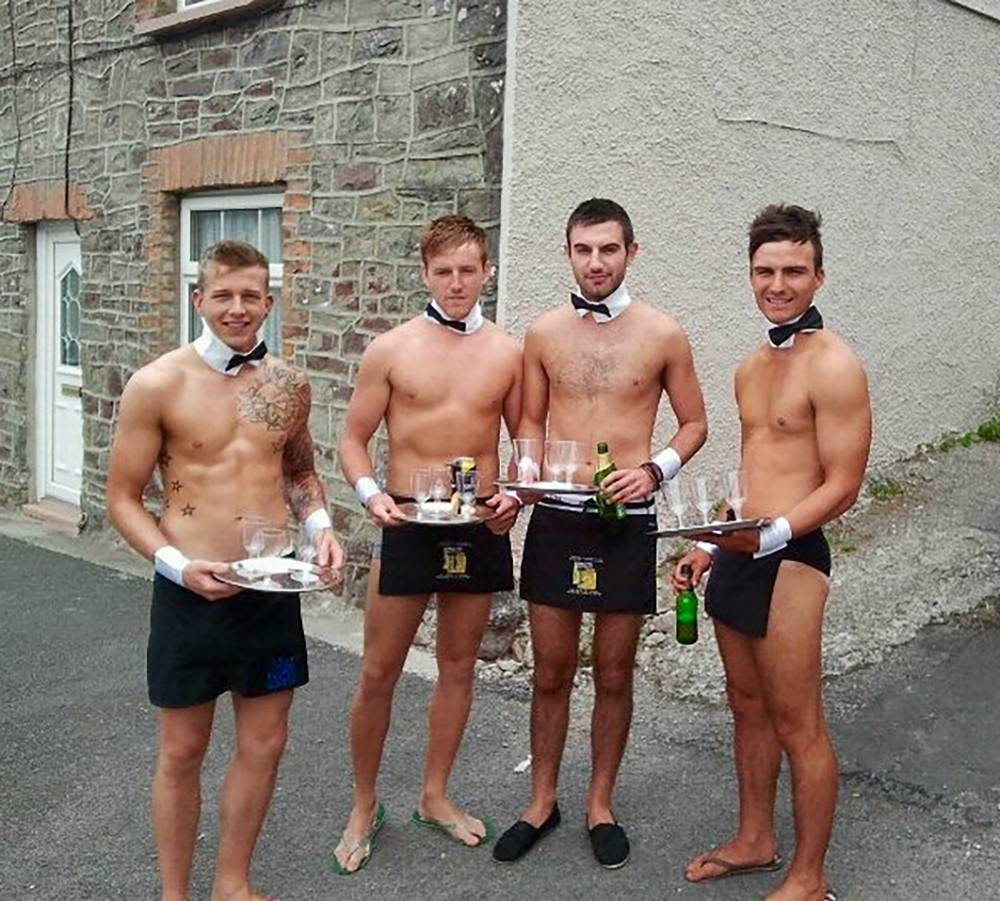 PIC FROM MERCURY PRESS (PICTURED: (FAR LEFT) IAN DARBYSHIRE ON ANOTHER FRIEND'S STAG DO) A young husband-to-be is flogging a place on his ëraucous, no holds barredí stag do on eBay to the highest bidder. Ian Darbyshire, 26, claims the lucky winner will get to enjoy a weekend of ëcarnageí with him and his 31 friends at a Butlins adult weekend. The unusual listing has already attracted 19 bids and is currently at £90.01 ñ but could go a lot higher before it closes on Thursday evening. The lifeguard trainer, who is due to marry his partner Jessica in October, is open minded about who might be joining him on his four day boozy party at the end of September. SEE MERCURY COPY