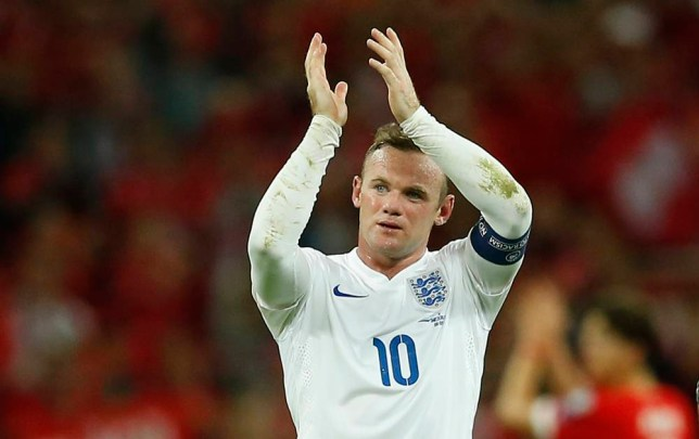Football - England v Switzerland - UEFA Euro 2016 Qualifying Group E - Wembley Stadium, London, England - 8/9/15 England's Wayne Rooney applauds the fans at the end of the match Action Images via Reuters / John Sibley Livepic EDITORIAL USE ONLY.