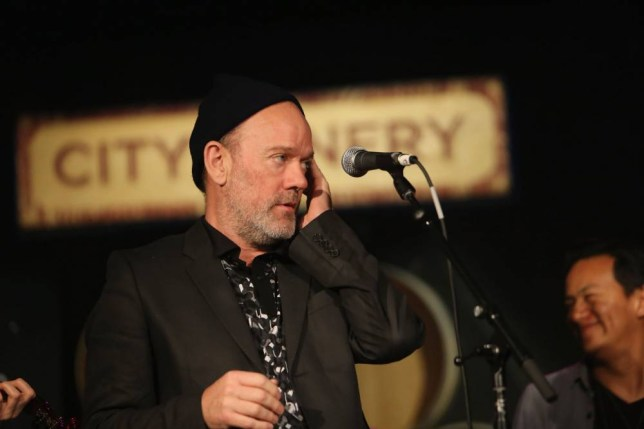 NEW YORK, NY - MAY 17: Michael Stipe performs at the Everest Awakening: A Prayer for Nepal and Beyond Benefit show at City Winery on May 17, 2015 in New York City. (Photo by Al Pereira/WireImage)