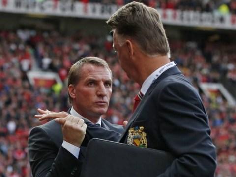 Brendan Rodgers and Louis van Gaal endure most awkward handshake ever before Manchester United v Liverpool