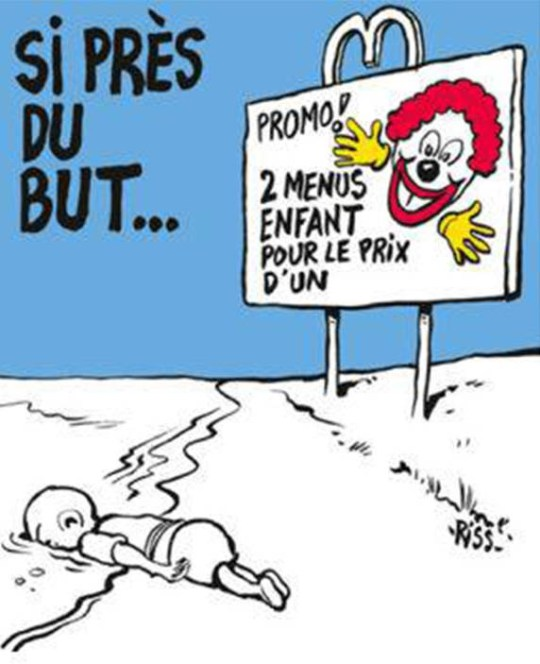 Charlie Hebdo publish controversial cartoons of drowned