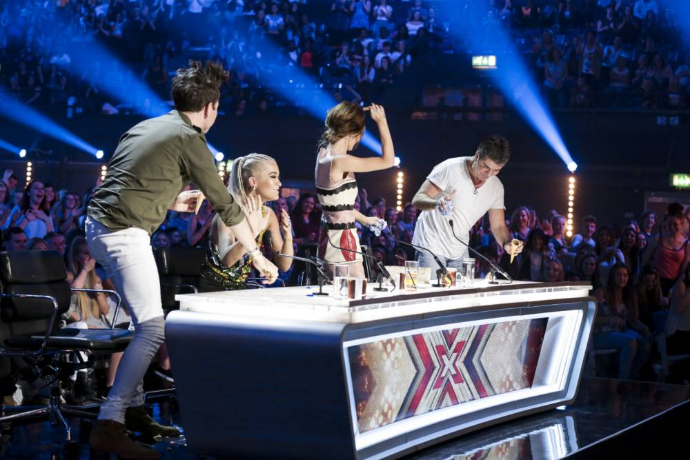 The X Factor 2015: Ice-cream fight breaks out after hopeful Andy Taylor dishes up some tasty treats