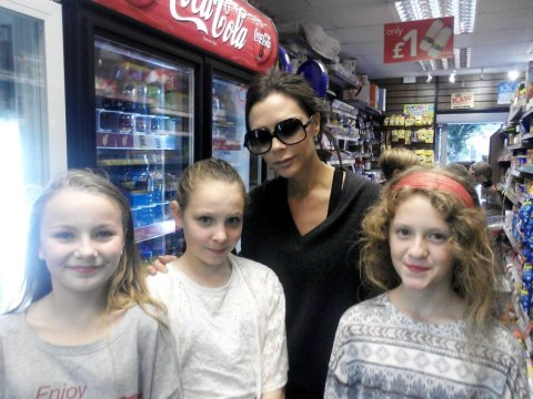 Here's proof that Victoria Beckham's not too posh to shop in a newsagent's