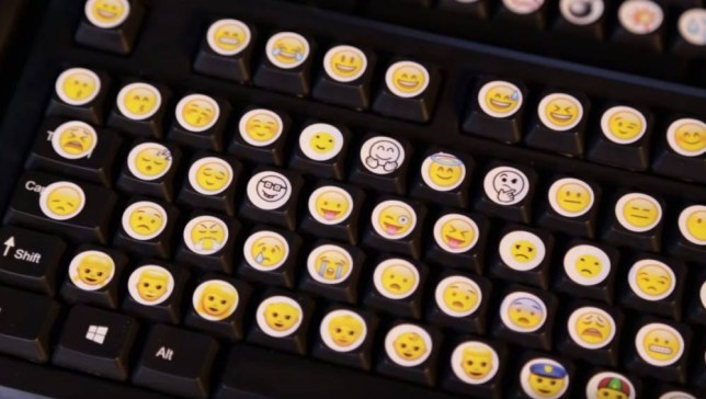 Grabs from Tom Scott YouTube video where he shows off a keyboard system which includes every single emoji https://www.youtube.com/watch?v=3AtBE9BOvvk