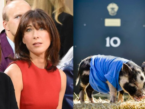 Samantha Cameron is enjoying LFW as the PM declines to comment on #PigGate