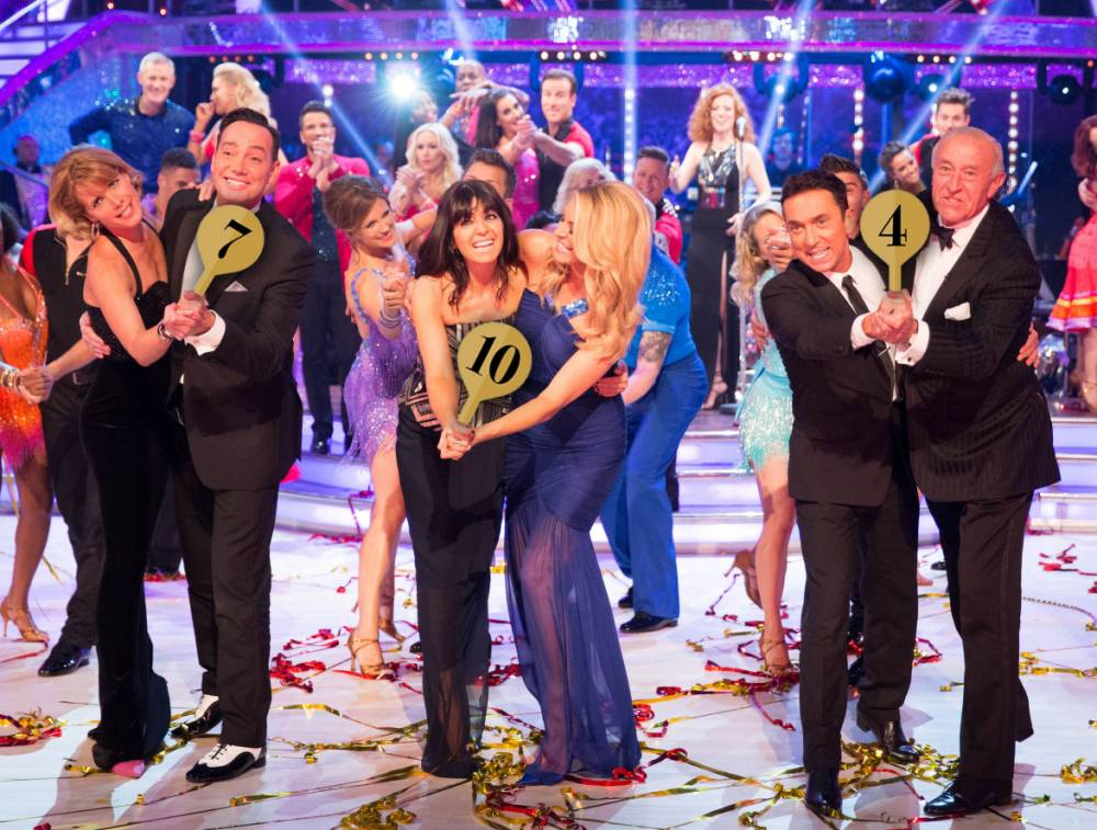 Embargoed to 2035 Saturday September 5nFor use in UK, Ireland or Benelux countries only nUndated BBC handout photo of Strictly Come Dancing judges and hosts (front row, left to right) Darcey Bussell, Craig Revel Horwood, Claudia Winkleman, Tess Daly, Bruno Tonioli and Len Goodman during rehearsals for the launch programme for this year's series. PRESS ASSOCIATION Photo. Issue date: Saturday September 5, 2015. See PA SHOWBIZ Strictly stories. Photo credit should read: Guy Levy/BBC/PA WirenNOTE TO EDITORS: Not for use more than 21 days after issue. You may use this picture without charge only for the purpose of publicising or reporting on current BBC programming, personnel or other BBC output or activity within 21 days of issue. Any use after that time MUST be cleared through BBC Picture Publicity. Please credit the image to the BBC and any named photographer or independent programme maker, as described in the caption.