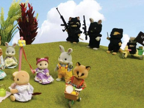 Sylvanian Families being stalked by ISIS banned from art gallery