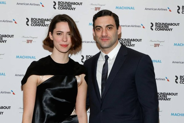 "NEW YORK, NY - JANUARY 16: Rebecca Hall and Morgan Spector attend the Broadway opening night of ""Machinal"" at American Airlines Theatre on January 16, 2014 in New York, New York. (Photo by John Lamparski/WireImage)"
