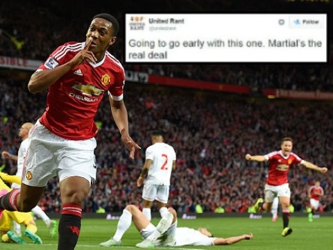 Manchester United fans tip Anthony Martial to become world class on Twitter after impressive Champions League performance v PSV Eindhoven