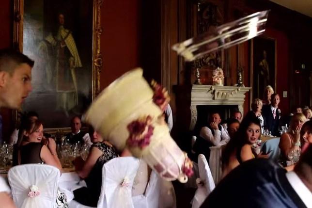 Wedding cake accident