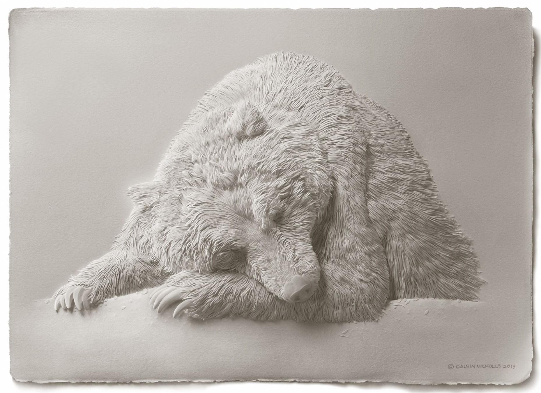 calvin nicholls incredibly detailed paper art