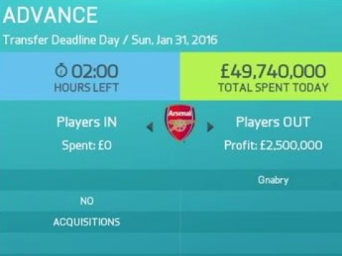FIFA 16 is so realistic that Arsenal don't spend any money in career mode either