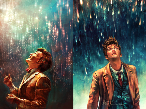 This illustrator's Doctor Who artwork is out of this world