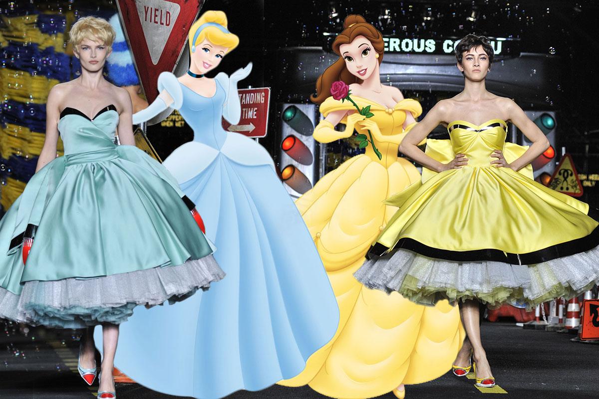 Moschino SS16 Disney Princess dresses
