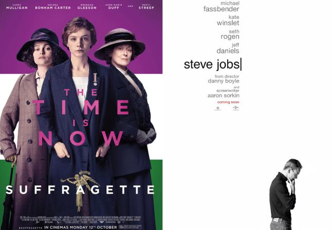 Suffragette/Steve Jobs