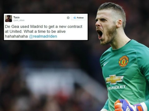 Manchester United celebrate David De Gea using Real Madrid for once to get a better contract