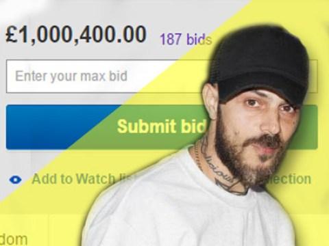 The highest eBay bid for Abz Love's Brit Award is now over £1 million