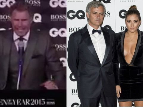 Will Ferrell appeared to troll Chelsea manager Jose Mourinho in GQ acceptance speech