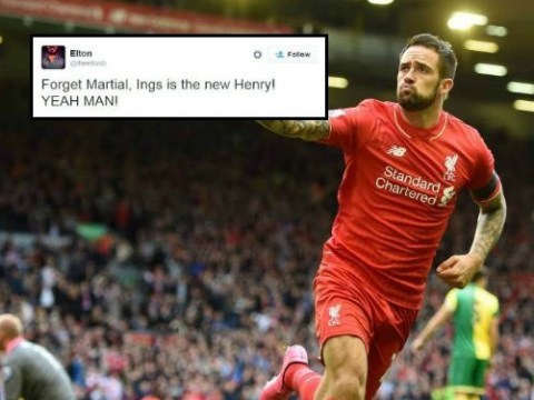 Liverpool fans troll Manchester United's Anthony Martial by saying Danny Ings is the new Thierry Henry