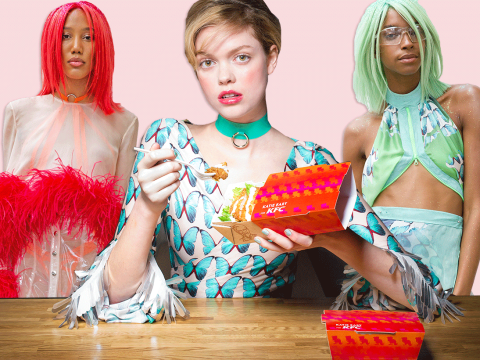 So KFC's now doing fashion, with its very own LFW collection