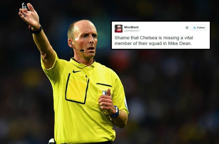 Arsenal fans say Chelsea are missing referee Mike Dean during Newcastle draw