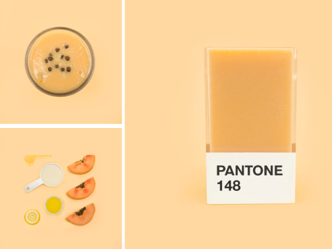Artist creates smoothies to match every Pantone colour