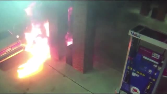 Man attempts to kill spider with lighter, ends up setting petrol station on fire