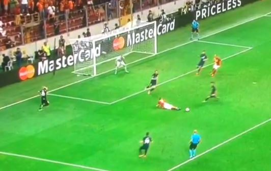 Lukas Podolski proves Arsenal were right to sell him by falling over in front of goal