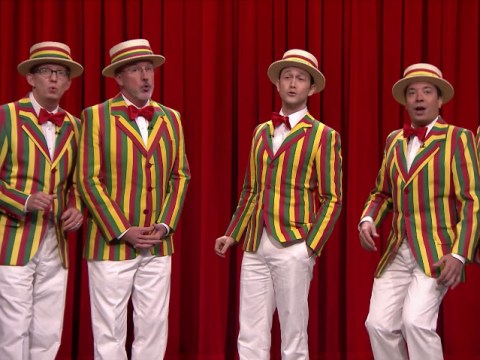 Watch: Joseph Gordon Levitt just gave us the barbershop rendition of Rihanna's BBHMM we didn't know we needed