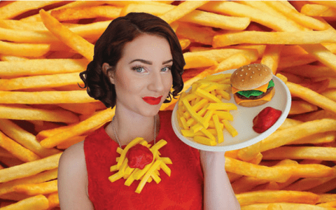 Meet the designer taking fashion's obsession with food to the next level