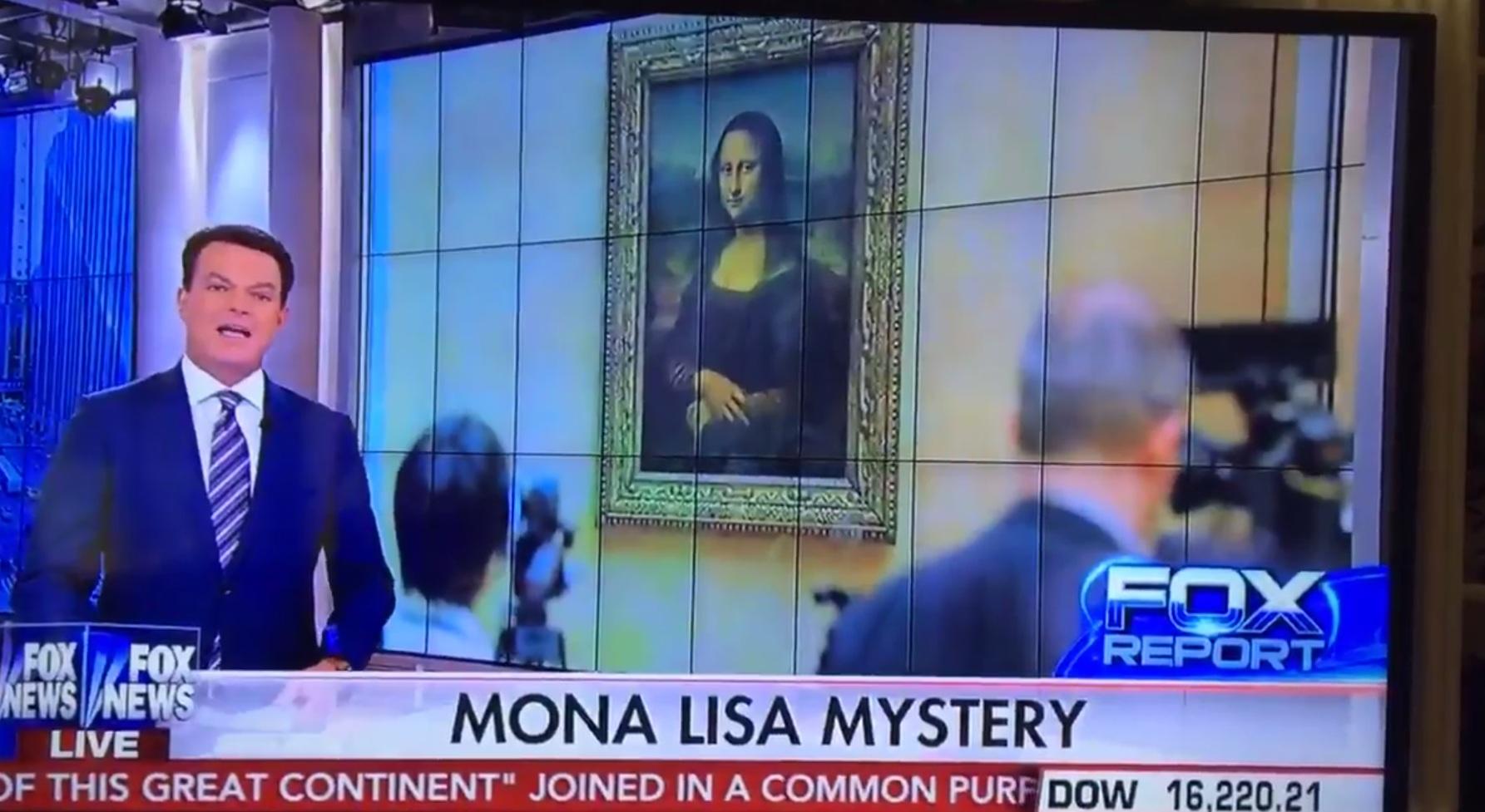 Reporter says Leonardo DiCaprio painted the Mona Lisa in live TV fail
