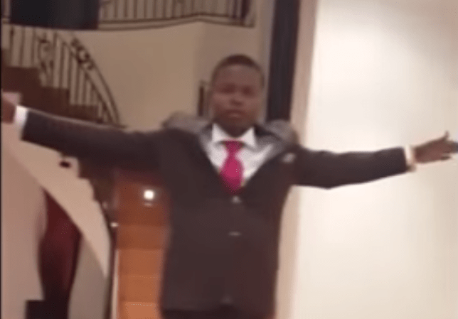 Shepherd Bushiri performing a miracle Picture: YouTube