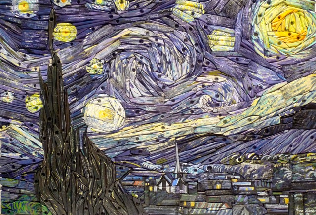 This artist recreates famous paintings\u2026with paintbrushes