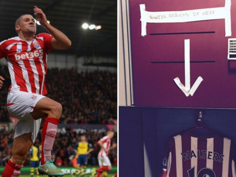 Charlie Adam and Stoke team-mates make light of Jon Walters' transfer request with humorous message