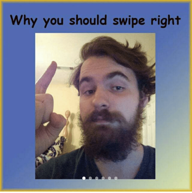 guy creates mini powerpoint to get more right swipes on Tinder
